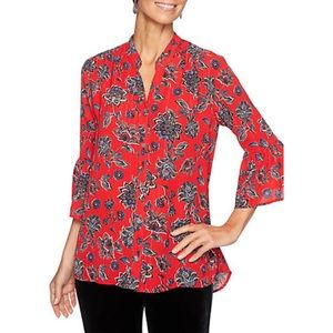 Ruby Rd. bell sleeve blouse size PM
